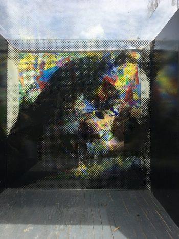 Multimedia artwork by Madison Sternig installed on the Atlanta Eastside Beltline, sponsored by 725 Ponce
