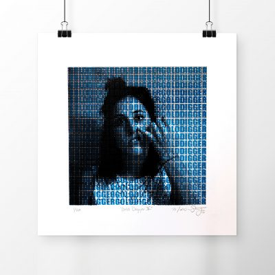 """""""Gold Digger #2"""" print on wall by Madison Sternig"""