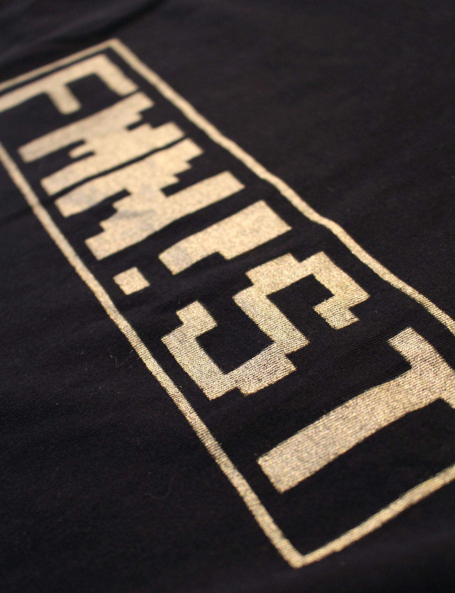 FMN!ST | detail shot of feminist tee shirt