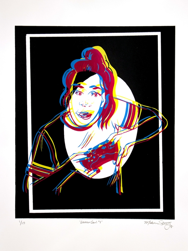 Gamer Girl #1 limited edition silkscreen poster by Madison Sternig