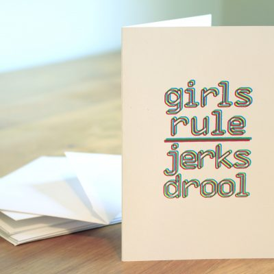 product image for Girls Rule Jerks Drool greeting cards