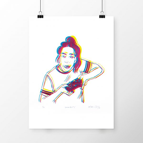 Gamer Girl #2 limited edition silkscreen poster by Madison Sternig
