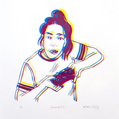 """""""Gamer Girl #2"""" limited edition silkscreen poster by Madison Sternig"""