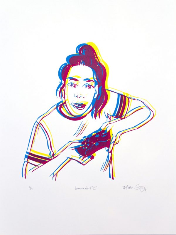 """Gamer Girl #2"" limited edition silkscreen poster by Madison Sternig"