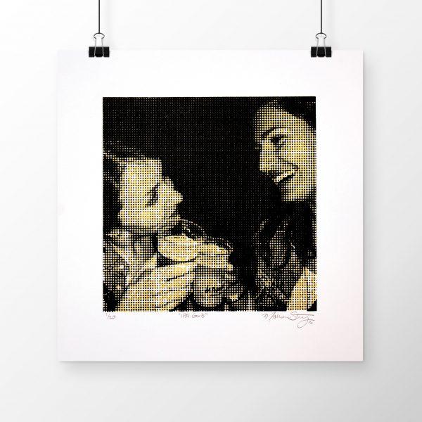 """IPA Girls"" print on wall by Madison Sternig"