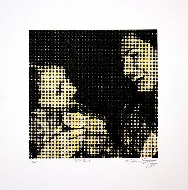 """IPA Girls"" - Silkscreen Print by Madison Sternig"