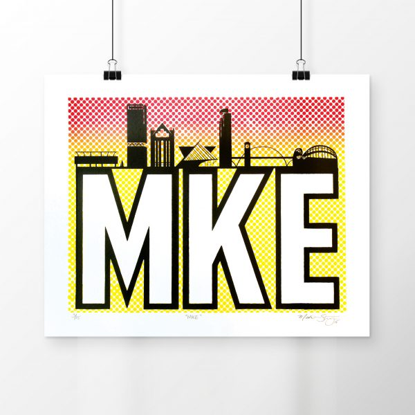 MKE limited edition silkscreen poster by Madison Sternig