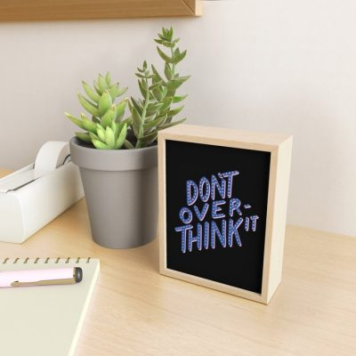 dont overthink it typography design framed mini art prints